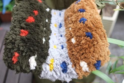 ◆◆【佐藤さんのノッティング◆手織りの椅子敷】◆(大) ◆NEW!◆