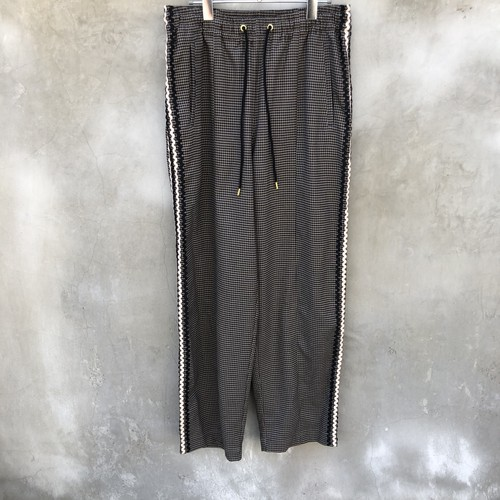 """TAUPE  """"wave line track pants"""""""