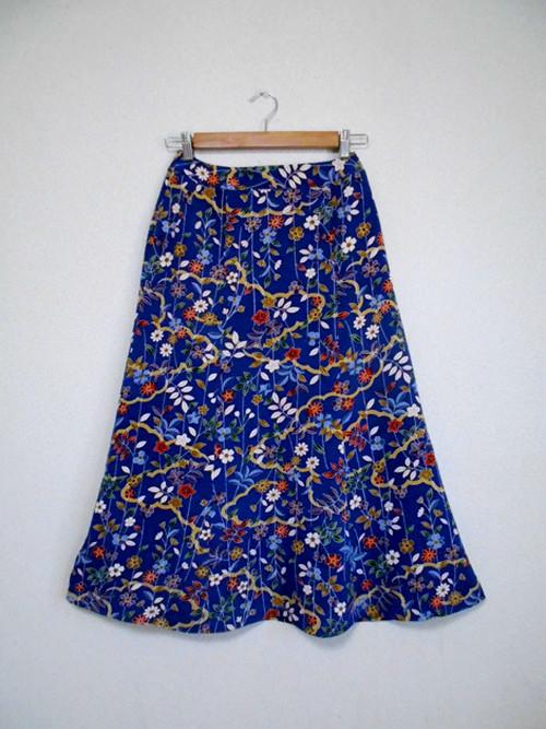 レトロ小紋の着物スカート Kimono Skirt  WS-002/S