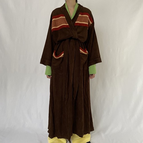 70's Sears | velours long gown