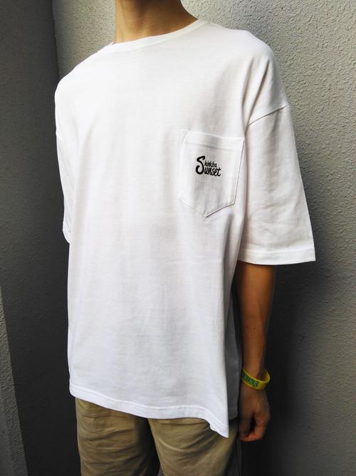 ポケビTシャツ(ポケット付きビッグTシャツ) [ホワイト] Lワンサイズ