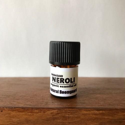 国産オーガニックネロリ精油 1ml (長崎県産無農薬、水蒸気蒸留法抽出)