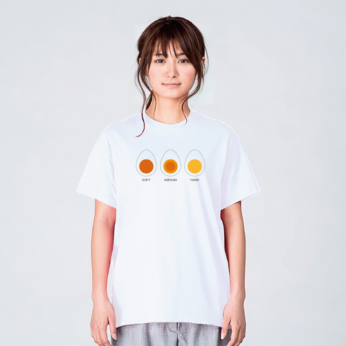 ゆでたまご Tシャツメンズ レディース 半袖 食べ物 シンプル ゆったり おしゃれ トップス 白 30 代 40代 大きいサイズ 綿100% 16 0 S M L XL