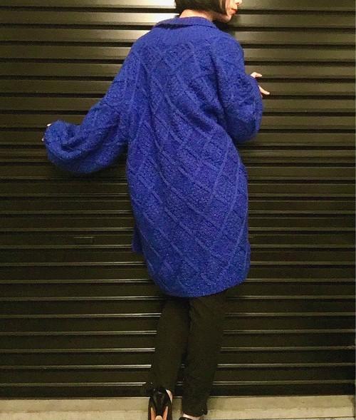 vintage blue cardigan