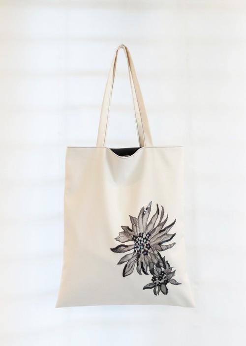 トートバッグ【fleurs de dentelle -黒- 】
