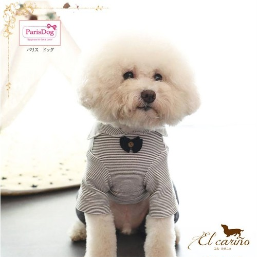 9。Parisdog【正規輸入】犬 服 つなぎ グレー オールインワン 秋 冬物