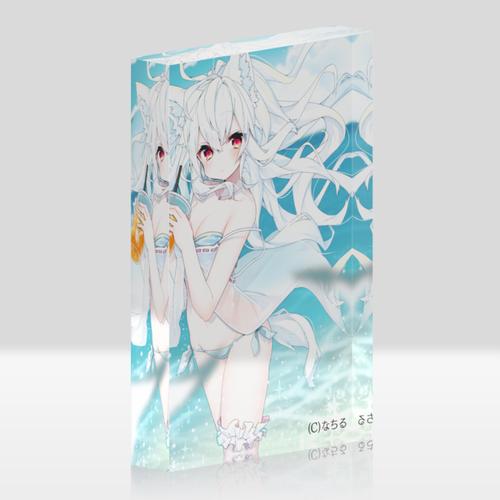オリジナルアクリルブロック(クリア)【サマーオレンジ】 / なちる