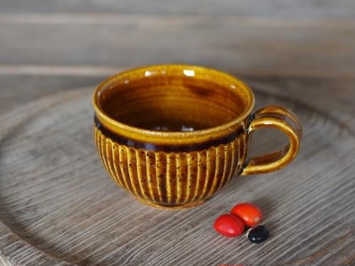 飴釉 ティーカップ(鎬)