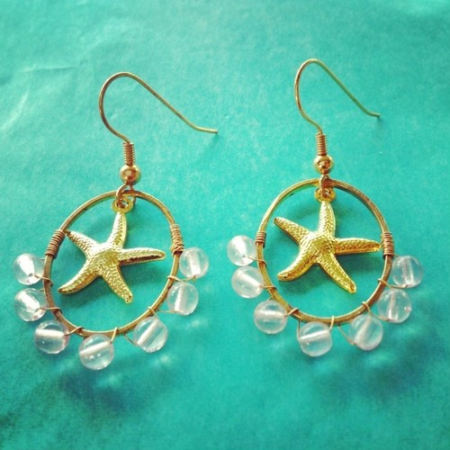 By the SEA * star fish ピアス
