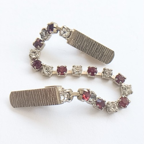 red & clear rhinestone sweater clip[s-190]