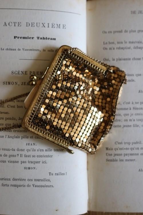 コインパースネックレスGold Coin Purse necklace / an-15042