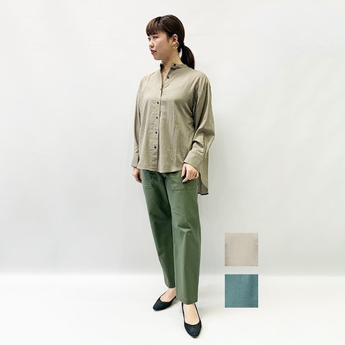 FLORENT(フローレント) Cotton Georgette Band Collar Blouse 2020春物新作 [送料無料]