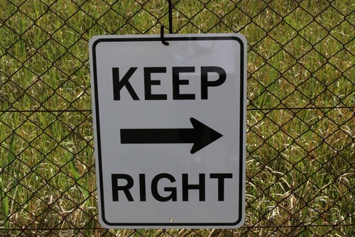 SIGN KEEP RIGHT (キープサイン・看板・標識・USA)