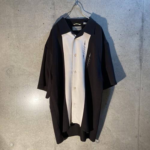 Rayon poly 2tone design shirt