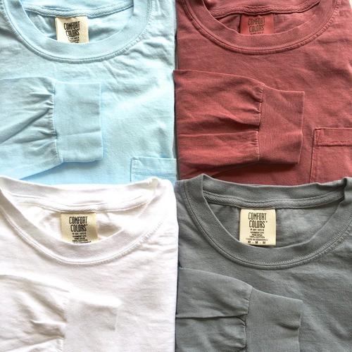 コンフォートカラーズ ロングスリーブ ポケット Tシャツ