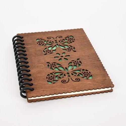 木のノートブックG 蝶々
