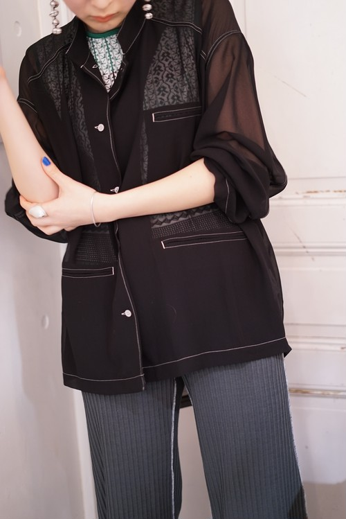 Acne Studios / POLY GEORGETTE SHIRTS/BLOUSES (BLACK)