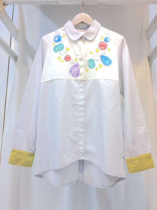MELANTRICK HEMLIGHET  キラキラアクセサリーシャツ