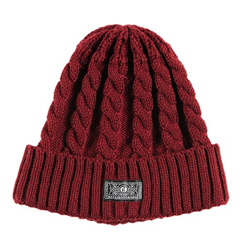 【ROLLING CRADLE | ロリクレ】RC KNIT CAP / Burgundy
