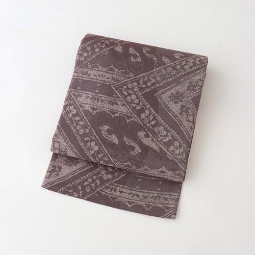 1895 菱文オリエンタル柄◆しゃれ袋帯