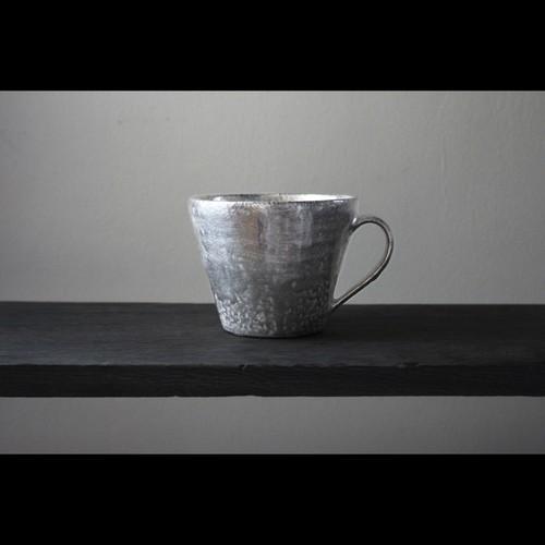 経年変化を楽しむ銀彩の器 陶芸作家【谷井直人】銀彩  マグカップ