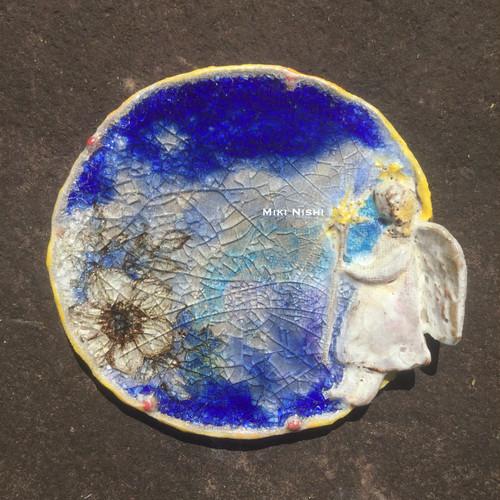 西美紀 / 【天使が見せてくれた夢】陶ガラス  絵画の器
