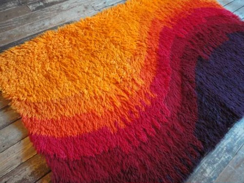 60-70's made in Denmark by Scandinavian Folklore Carpets APS