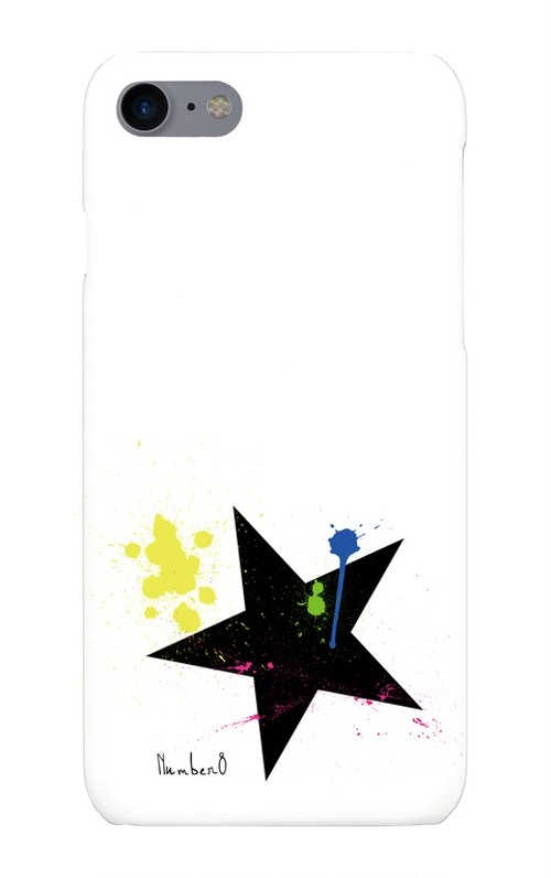 BIG STAR(星柄)ペイントiPhoneケース for iPhone8/7