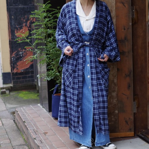 Flannel Gown / チェック ガウン