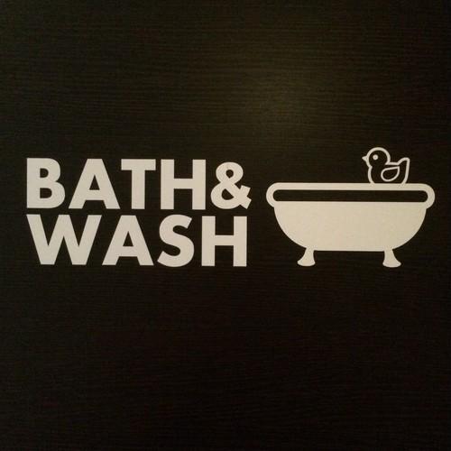 カッティングシート(bath&wash)