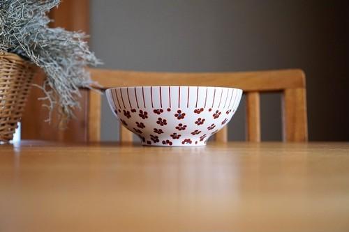 砥部焼/小丼/赤十草×赤小紋/すこし屋