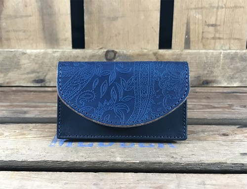 RE.ACT Paisley Indigo Card Case