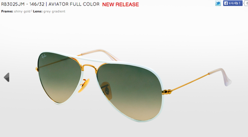 RAY BAN RB3025JM/AVIATOR FULL COLOR(アビエイター)
