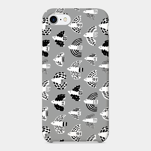 【Birds-mono】 phone case (iPhone / android)