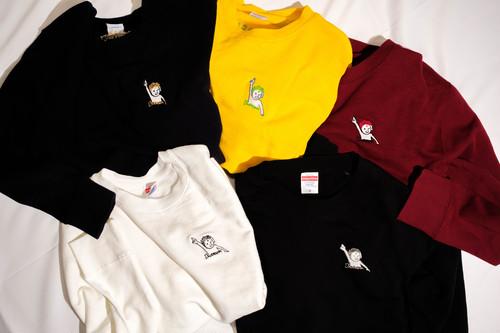 【刺繍】天上天下唯我独尊長袖トレーナー(選べる5色)/男女兼用ユニセックスサイズS・M・X・XL)  かわいい ゆったりサイズ 男女兼用 仏像Tシャツ