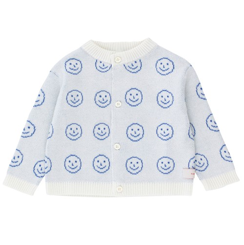 Tiny Cottons 'HAPPY FACE' baby cardigan