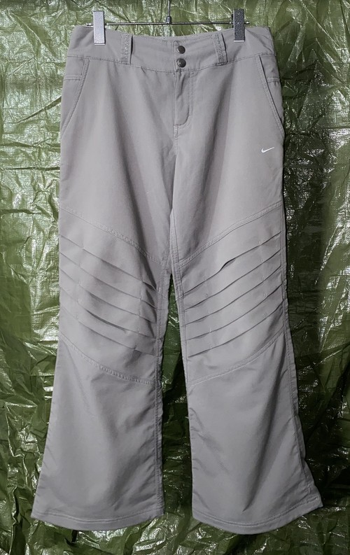 2000s NIKE KNEE PLEATED FLARE TROUSERS