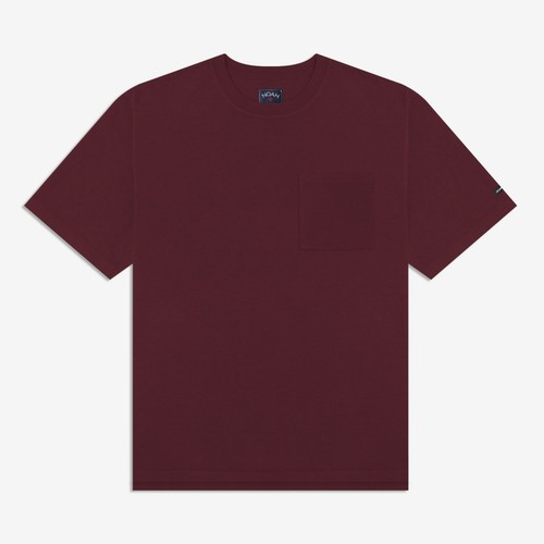 Oversized Heavyweight Pocket Tee(Burgundy)