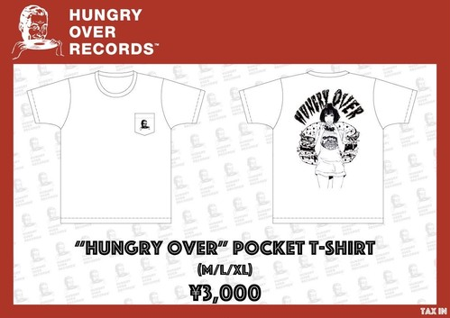 HUNGRY OVER POCKET T-SHIRT