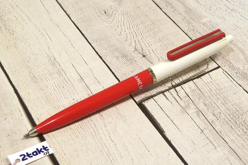 【Vintage/Used品】 ハンガリー ボールペン ICO PLANÉTA レッド×ホワイト/ 0009
