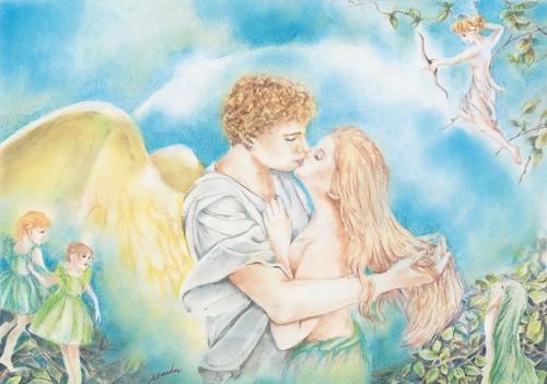 複製原画ポストカード「天使の誘惑」