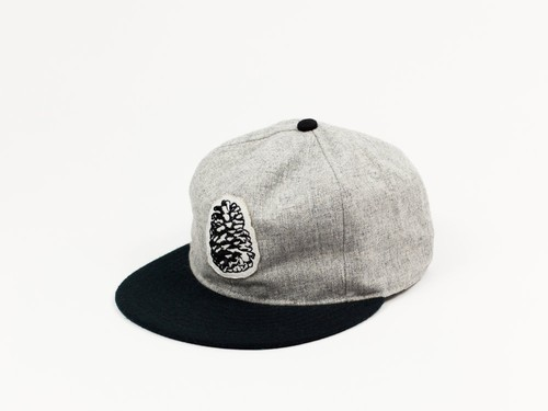 PINE STATE WOOL BALL CAP - GREY