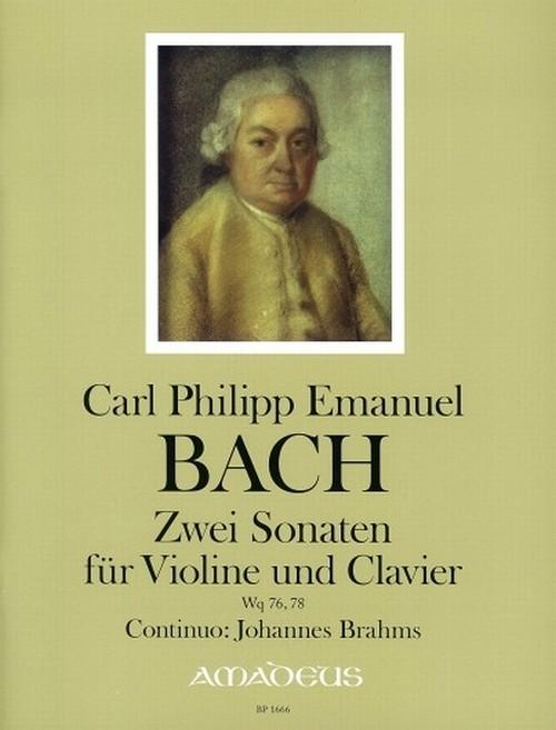 C.Ph.E.バッハ:2つのソナタ Wq 76, 78 / ヴァイオリン・ピアノ