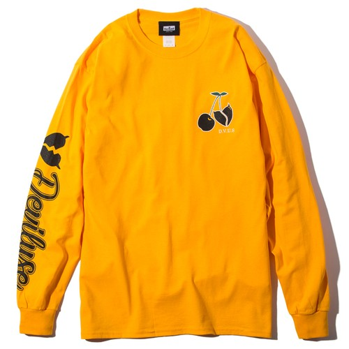 Deviluse(デビルユース) |  Cherry L/S T-shirts(Yellow)