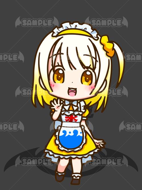 かき氷メイドちゃん_レモン_XL