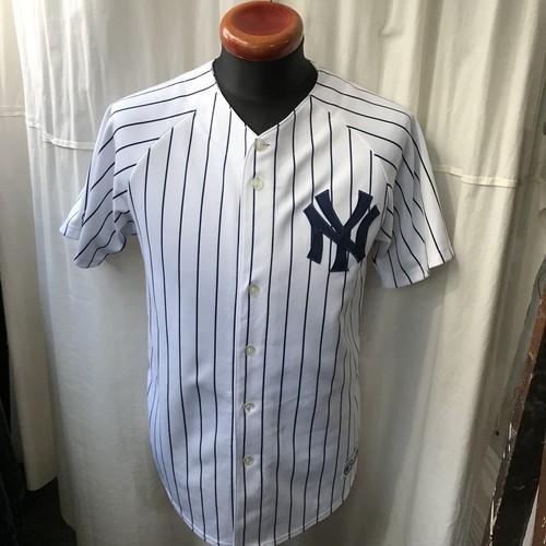 majestic製 NY Yankees ニューヨークヤンキース ベースボールシャツ メンズL