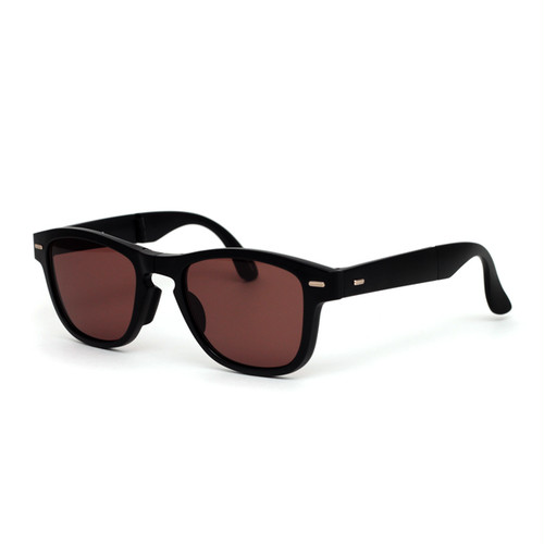 <H-fusion> HFS-709 BLK FOLDING SUNGLASS(折畳式)