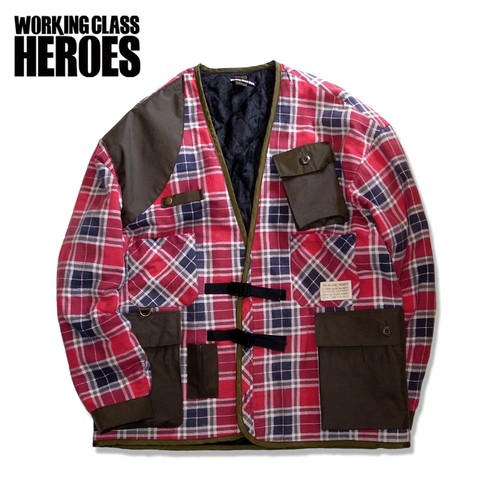Working Class Heroes  Gardening Cardigan -Red01