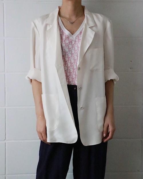 dead stock white silk jacket