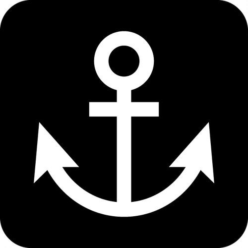 船・港案内マークのカッティングシートステッカー